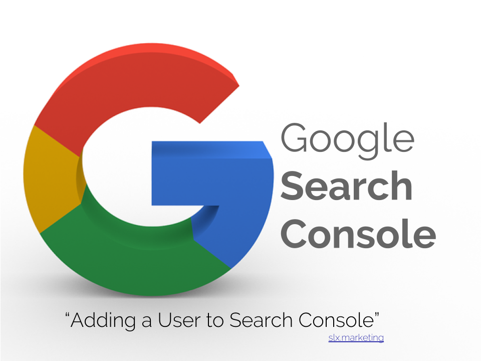 Adding a user to search console